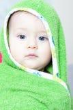 在浴以后的男婴 免版税库存图片