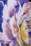在织品的五颜六色的花 库存照片