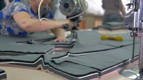在织品的裁缝慢慢地被删去的样式形状 影视素材