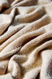 在织品的金螺纹 免版税库存图片