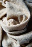 在织品的金螺纹 免版税库存照片