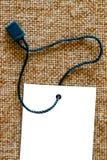 在织品的价牌 免版税库存照片