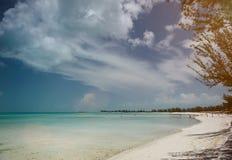 在巴哈马海岛上的异乎寻常的海滩 免版税库存图片
