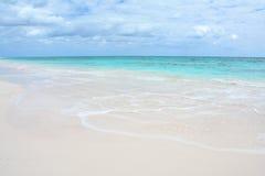 在巴哈马的天堂海滩 免版税库存照片