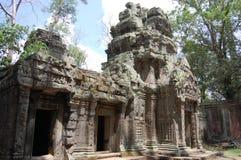 在吴哥的Ta Prohm寺庙在暹粒柬埔寨 免版税图库摄影