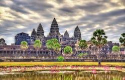 在吴哥窟的日出,联合国科教文组织世界遗产在柬埔寨 库存照片