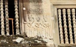 在吴哥窟的Apsaras画廊 免版税图库摄影