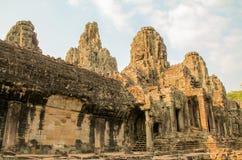 在吴哥窟,暹粒,柬埔寨使寺庙的看法环境美化 库存图片