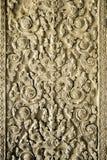 在吴哥窟,柬埔寨墙壁上的惊人的线艺术  库存图片