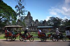 在吴哥窟,柬埔寨的Bayon寺庙 免版税库存照片