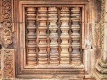 在吴哥Wat-柬埔寨的窗口 免版税库存图片