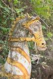 在黏土的黄色马头 库存图片