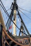 在1765年在特拉法尔加角战役介入的HMS胜利著名军舰由纳尔逊阁下海军上将指挥了 库存图片