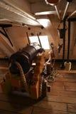 在1765年在特拉法尔加角战役介入的HMS胜利著名军舰由纳尔逊阁下海军上将指挥了 免版税图库摄影