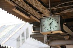 在驻地的时钟 免版税图库摄影