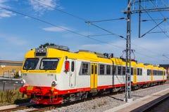 在驻地的火车在卡尔斯克鲁纳 库存图片