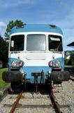 在驻地的火车 免版税库存图片