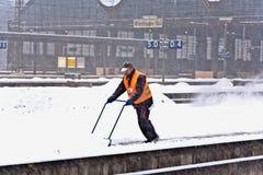 在驻地的高速火车 图库摄影