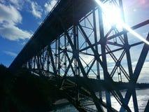 在破坏通行证的桥梁 免版税库存图片