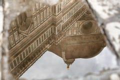 在水坑的反射 图库摄影