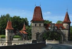在水坝森林王国的塔 免版税库存图片