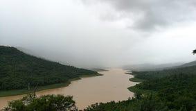 在水坝的看法 库存照片