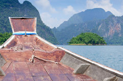 在水坝的美好的场面 免版税库存图片