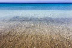 水在费埃特文图拉岛 库存照片