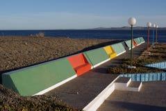 在巴塔哥尼亚的公开长凳 免版税库存照片