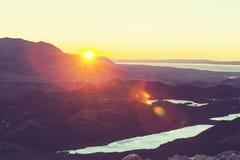 在巴塔哥尼亚的日落 库存图片