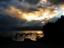 在巴塔哥尼亚的日落 免版税图库摄影