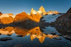 在巴塔哥尼亚的秋天 阿根廷fitz roy 图库摄影
