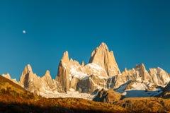 在巴塔哥尼亚的秋天 阿根廷fitz roy 库存照片