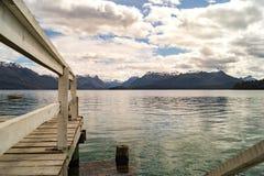在巴塔哥尼亚,阿根廷的美好的风景 免版税库存照片