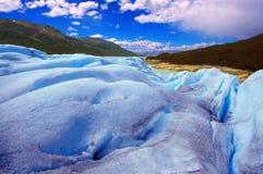 在巴塔哥尼亚(Argentin的佩里托莫雷诺冰川夺取的图片 免版税库存图片