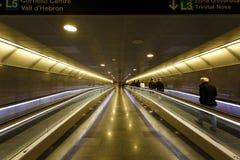 在巴塞罗那地铁的转折  库存照片