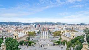 在巴塞罗那的天空 免版税库存图片
