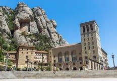 在巴塞罗那附近的蒙特塞拉特修道院 免版税库存照片