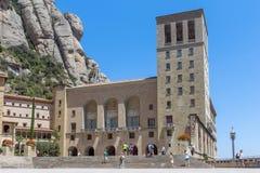 在巴塞罗那附近的蒙特塞拉特修道院 库存照片