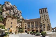 在巴塞罗那附近的蒙特塞拉特修道院 库存图片