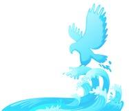 在水外面的跳跃的老鹰 免版税库存图片