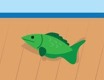 在水外面的鱼 库存照片