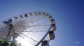 在维多利亚和阿尔伯特江边的弗累斯大转轮在开普敦 库存图片