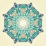 在维多利亚女王时代的样式的传染媒介圆的装饰品 向量例证