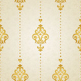 在维多利亚女王时代的样式的传染媒介无缝的样式 免版税库存图片