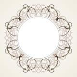 在维多利亚女王时代的样式的传染媒介装饰框架 皇族释放例证