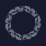 在维多利亚女王时代的样式的传染媒介装饰框架 库存例证
