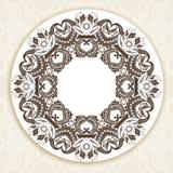 在维多利亚女王时代的样式的装饰华丽圆的框架 免版税图库摄影