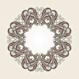 在维多利亚女王时代的样式的装饰华丽圆的框架 免版税库存图片
