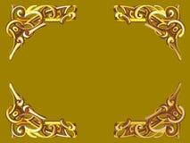 在维多利亚女王时代的样式的金框架 图库摄影